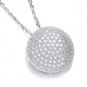 "J-Jaz Micro Pave' Fancy Pendant Cz with 18"" Chain #5"